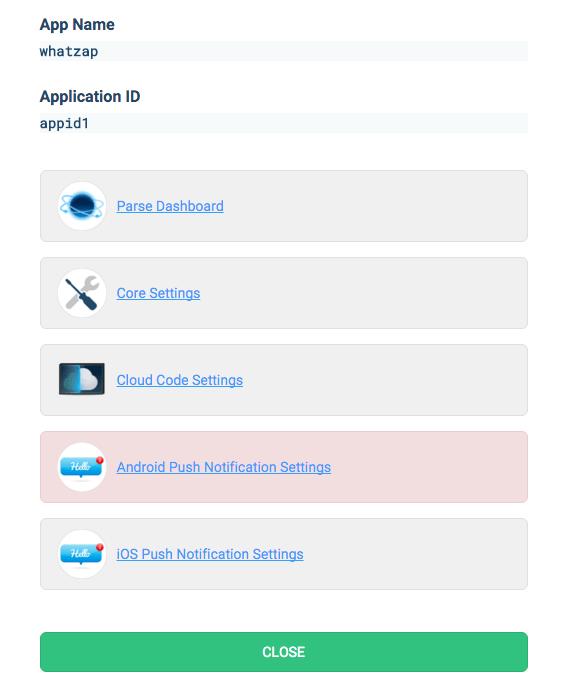 App panel
