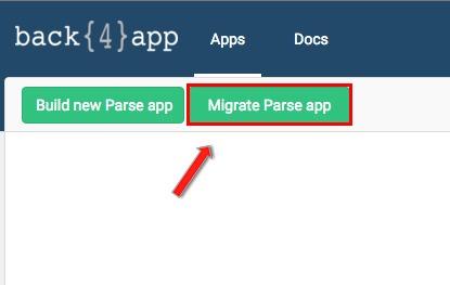Dash - Migrate Parse App