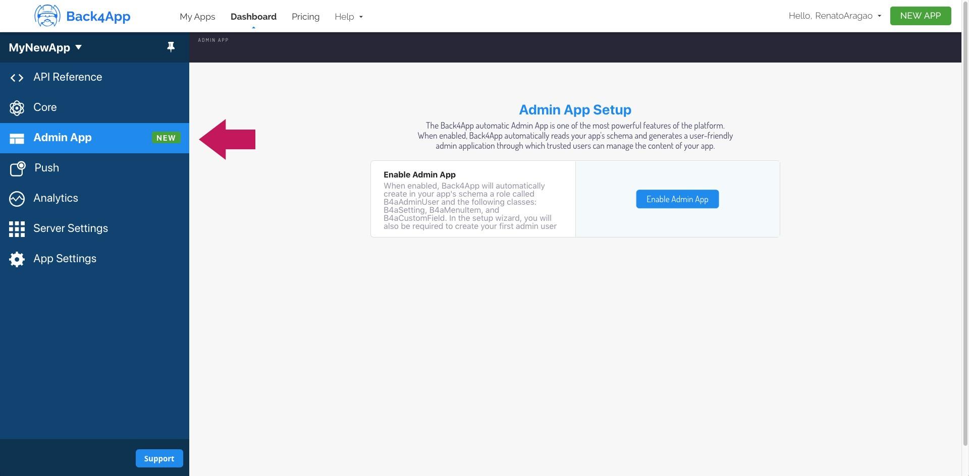 admin-app-setup