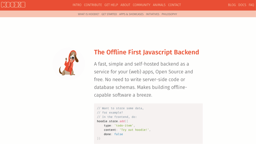 hoodie - firebase open source alternative